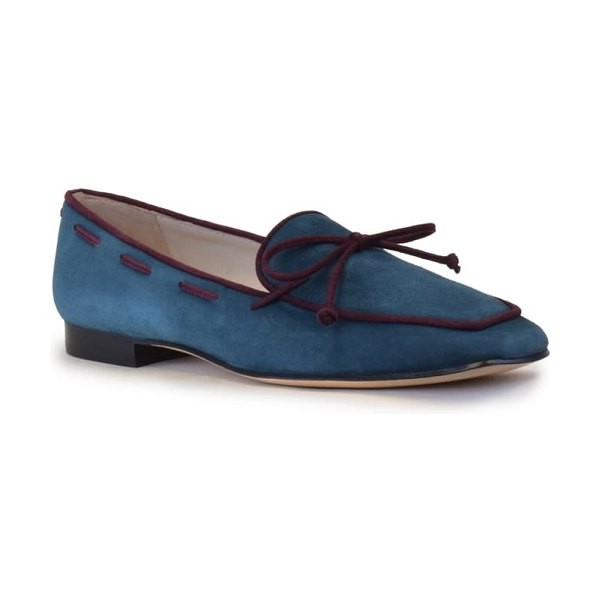 Amalfi by Rangoni genio loafer in octane green combo suede