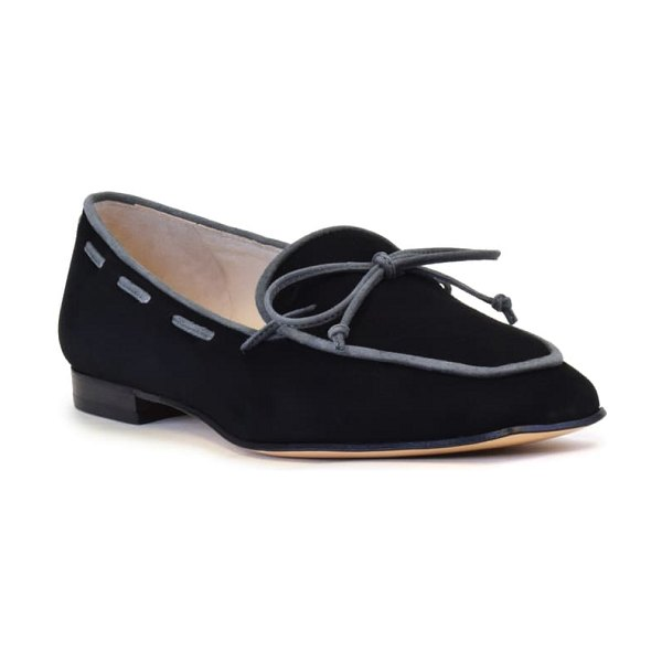 Amalfi by Rangoni genio loafer in black combo suede