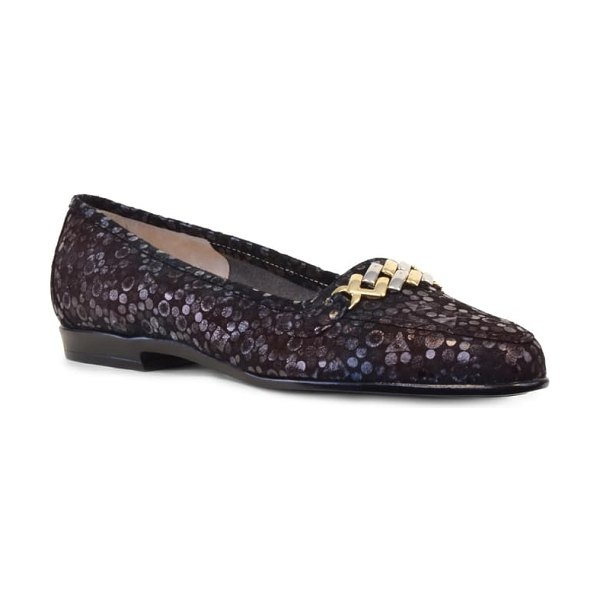 Amalfi by Rangoni oste loafer in bronze printed leather