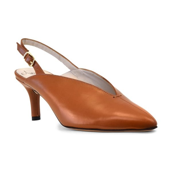 Amalfi by Rangoni pinerolo slingback pump in curry leather