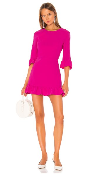 Amanda Uprichard candice dress in hot pink