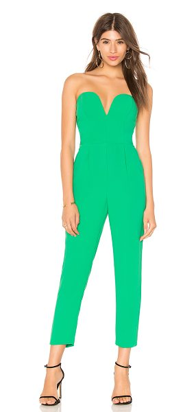 Amanda Uprichard Cherri Jumpsuit In Green Shopstasy