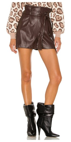 Amanda Uprichard tessi shorts in brown