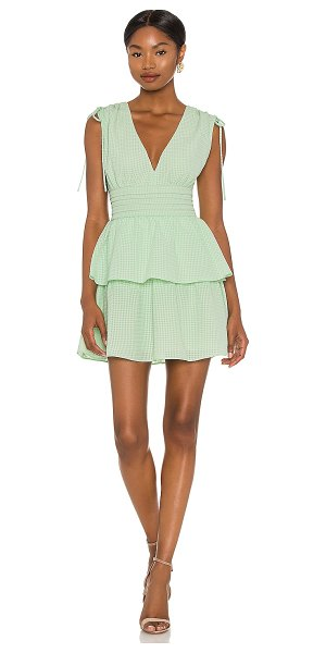 Amanda Uprichard westerly dress in hypermint