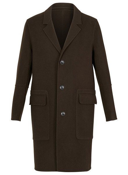 Ami Unstructured coat in marron fonce