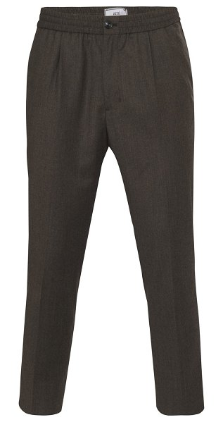 Ami Wool trousers in marron clair