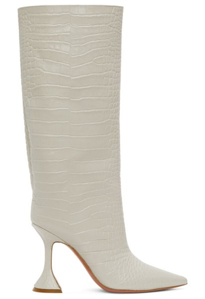 AMINA MUADDI off- croc rain tall boot in white