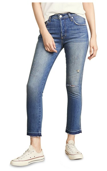 AMO babe high rise cropped slim jeans in dive bar