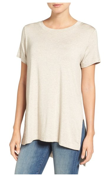 Amour Vert paola high/low tee in oatmeal