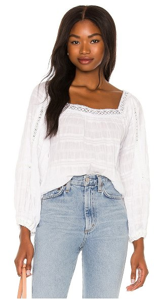AMUSE SOCIETY lupe blouse in white