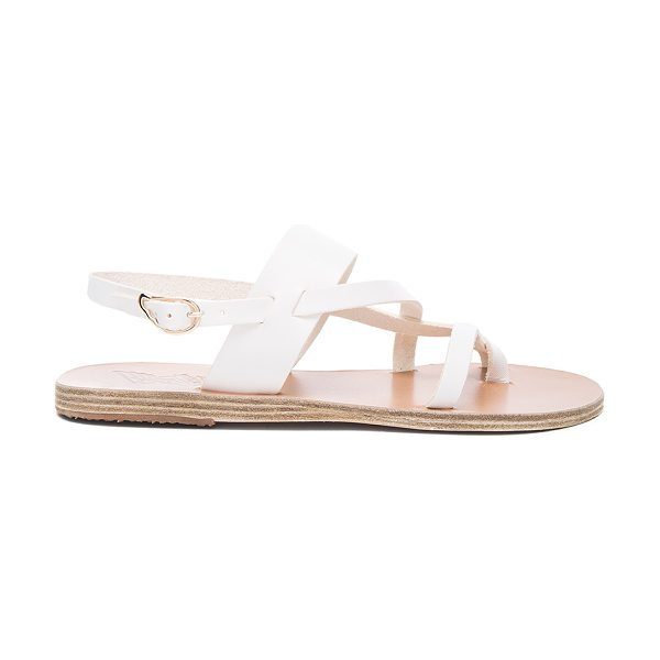 Ancient Greek Sandals Alethea Leather Sandals in white - Born with strong roots in Ancient Greek myth and...