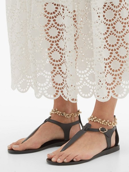 Ancient Greek Sandals chrysso ball-chain strap leather sandals in black