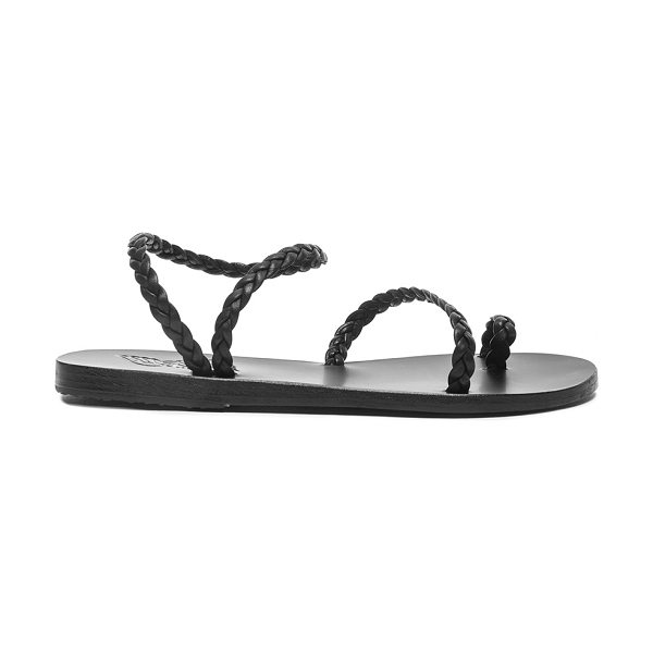 Ancient Greek Sandals Eleftheria Leather Sandals in black - Born with strong roots in Ancient Greek myth and...