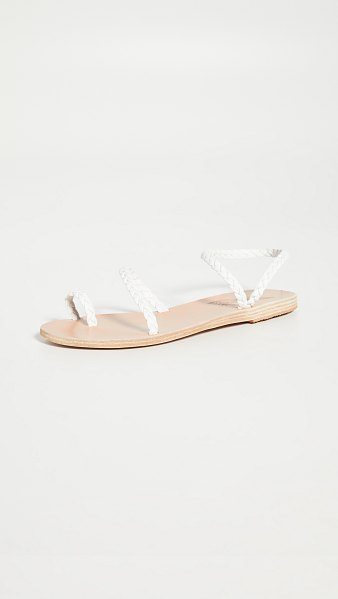 Ancient Greek Sandals eleftheria sandals in white