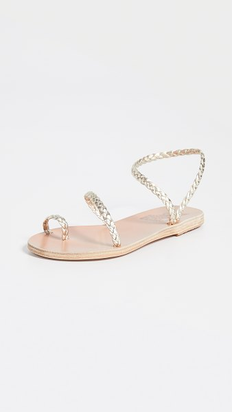 Ancient Greek Sandals eleftheria sandals in platinum