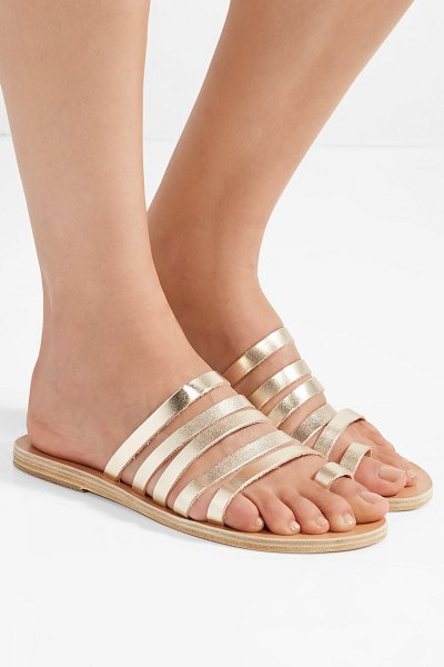 Ancient Greek Sandals niki metallic leather sandals in gold