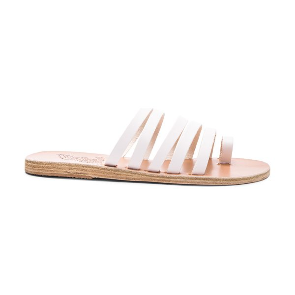 Ancient Greek Sandals Niki Sandals in white - Born with strong roots in Ancient Greek myth and...