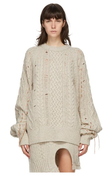 Andersson Bell beige wool oversized anna sweater in ivory