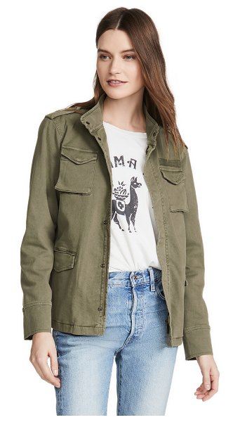 ANINE BING army jacket in army green