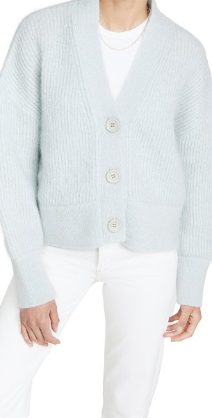ANINE BING maxwell mohair cardigan in light blue
