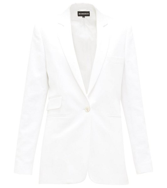 Ann Demeulemeester zipped-seams cotton-blend twill jacket in white