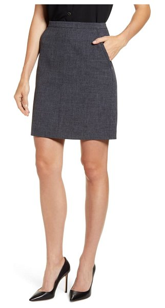 Anne Klein antonioni pocket pencil skirt in nantucket grey/ anne black
