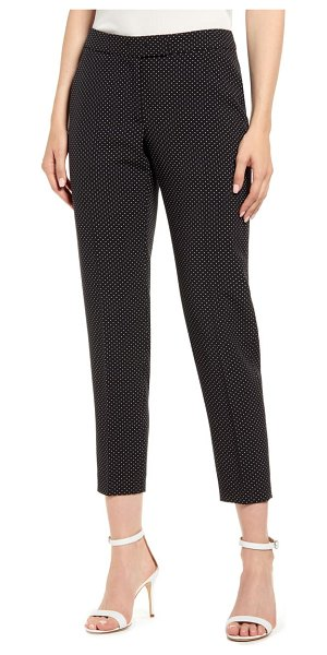 Anne Klein microdot crepe ankle pants in anne black/ anne white