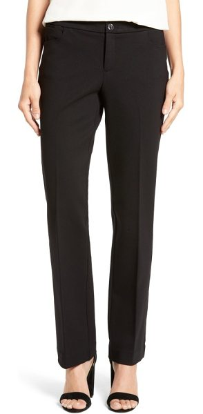 Anne Klein compression flare leg ponte pants in black