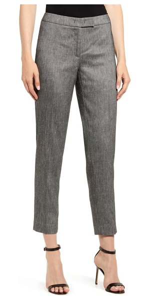 Anne Klein twill ankle pants in anne black/ anne white