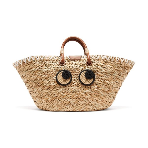 Anya Hindmarch eyes large seagrass basket bag in beige multi