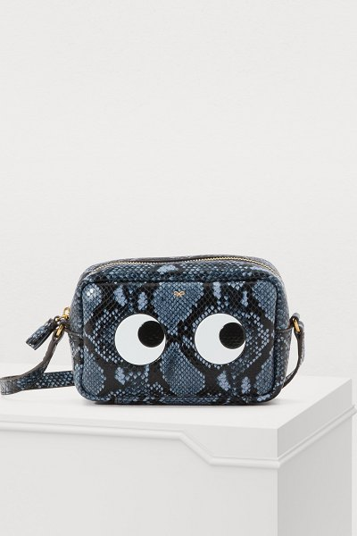 Anya Hindmarch Eyes python print mini crossbody bag - The cheerful humor that defines Anya Hindmarch is in...