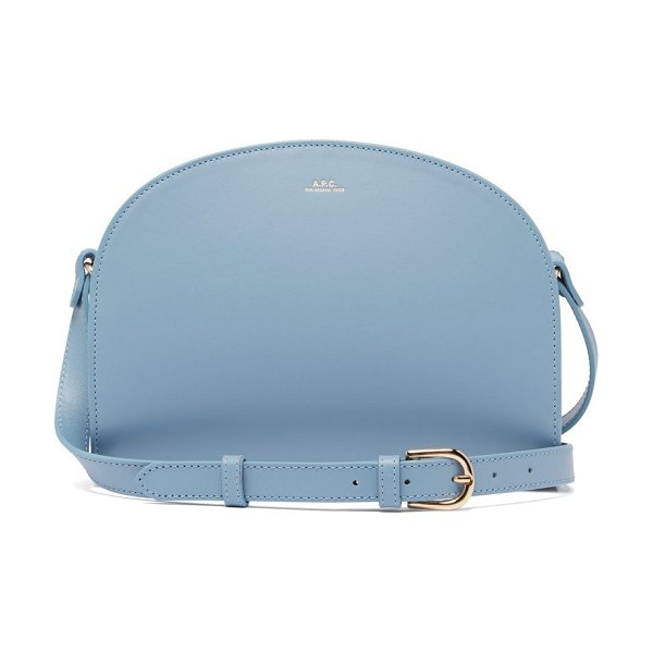 A.P.C. half moon leather cross body bag in light blue - A.P.C. - A.P.C.'s cult Half-moon cross-body bag is...
