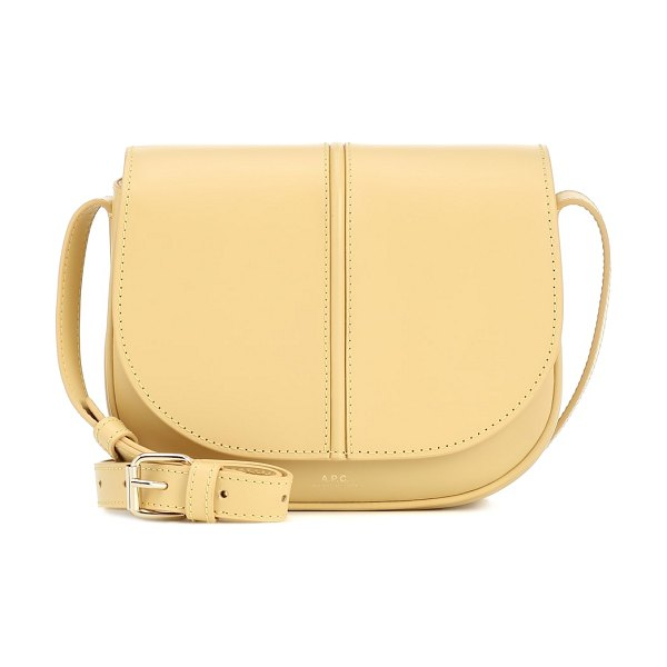 A.P.C. betty leather crossbody bag in yellow