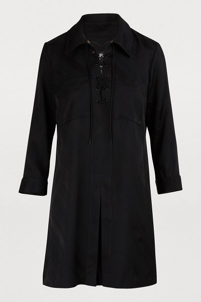 A.P.C. Carla dress in noir - Jean and Judith Touitou, the designers behind A.P.C,...