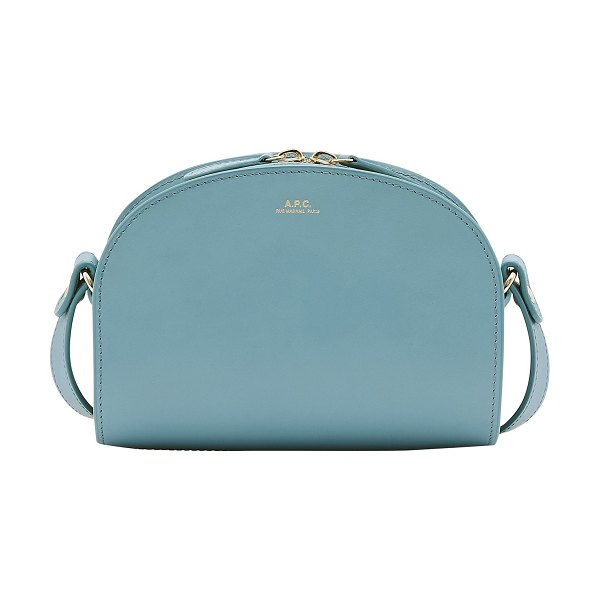 A.P.C. Demi-Lune mini bag in turquoise