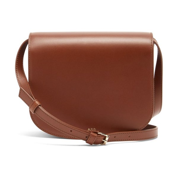A.P.C. dina leather cross-body bag in tan