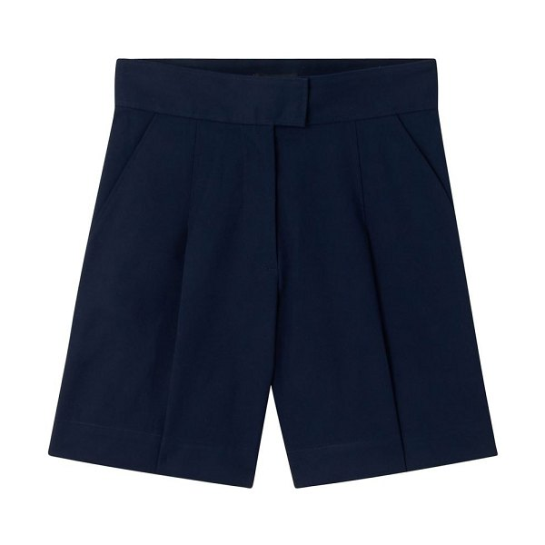 A.P.C. Fluid cotton shorts in navy