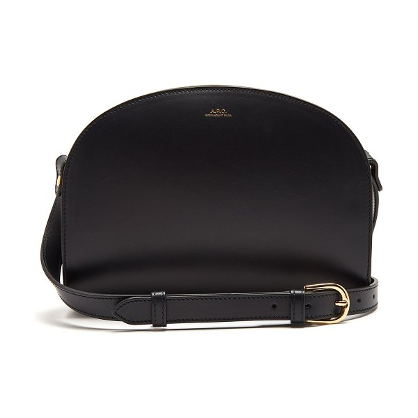A.P.C. half moon leather cross body bag in navy - A.P.C. - A symbol of pared-back sophistication, A.P.C....