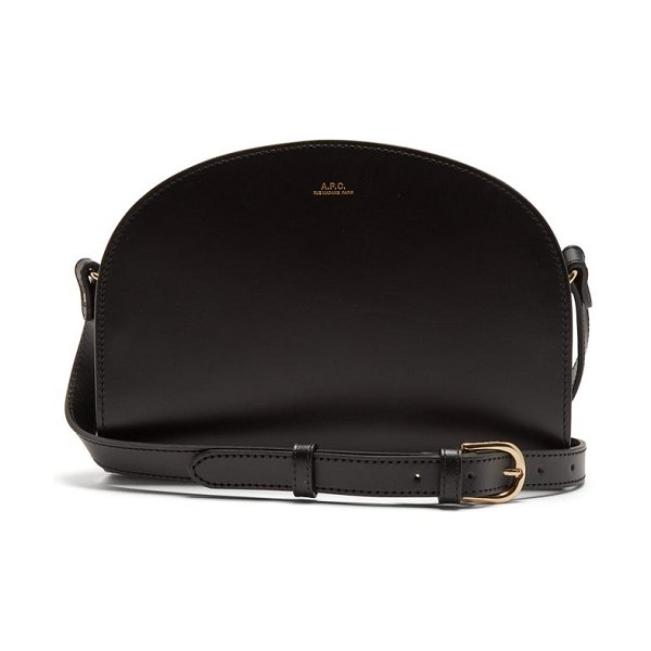 A.P.C. half-moon smooth-leather cross-body bag in black