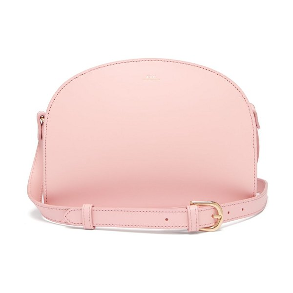 A.P.C. half moon leather cross body bag in light pink