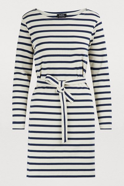 A.P.C. Instant dress in écru - This Instant cotton dress evokes a profound femininity,...