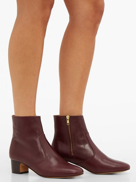 A.P.C. joey leather ankle boots in burgundy