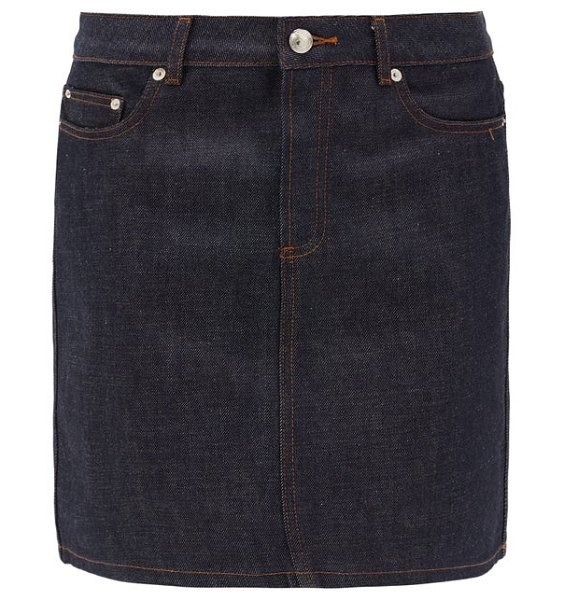 A.P.C. jupe standard raw-denim mini skirt in indigo