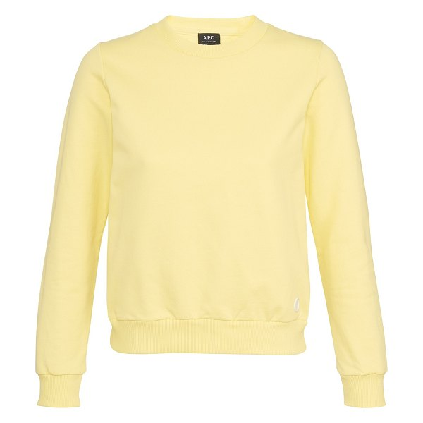 A.P.C. Label F sweatshirt in dab jaune clair