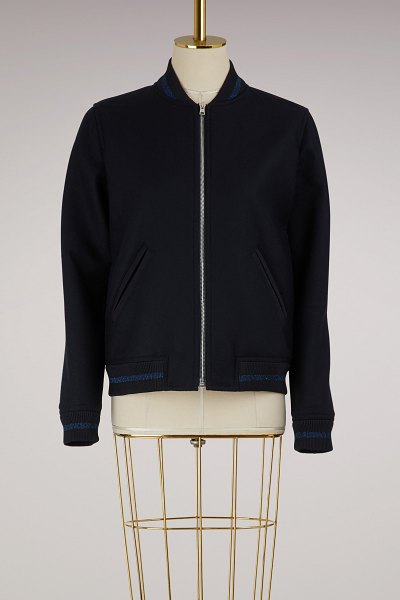 A.P.C. Larissa bomber in dark navy - This Larissa bomber jacket by A.P.C. will win you over...