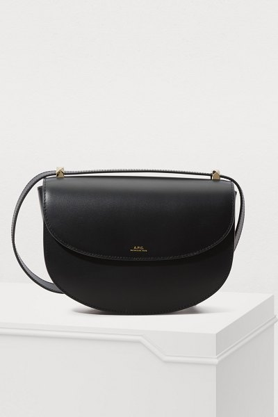 A.P.C. Leather Geneve shoulder bag in noir