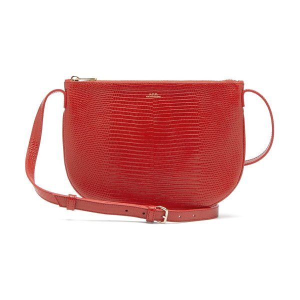 A.P.C. maelys lizard-effect leather cross-body bag in red