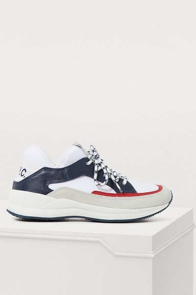 A.P.C. Naomie sneakers in rouge - A.P.C. showcases its graphic, urban look on these Naomie...