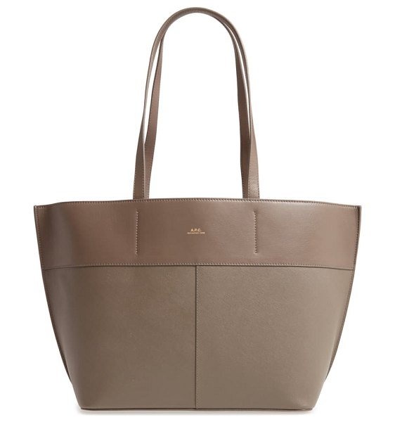 A.P.C. small totally leather tote in gris