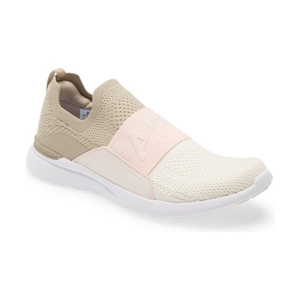 APL: Athletic Propulsion Labs techloom bliss knit running shoe in taupe / nude / pristine